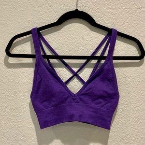 Lululemon Deep V strapping sports bra